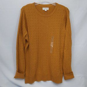 Kim Rogers Cable Knit Long Sleeve Sweater NWT
